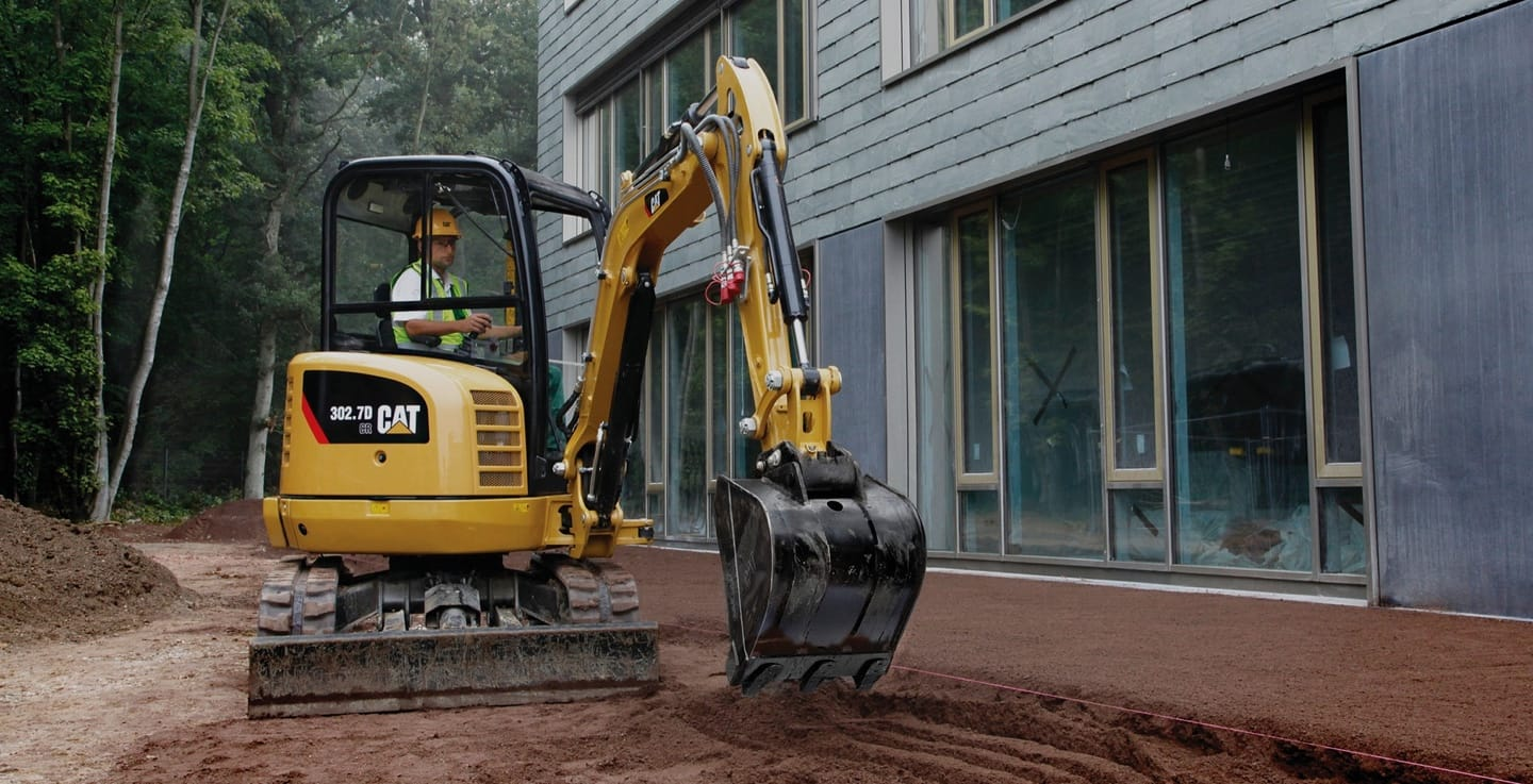 Mini or compact excavators are great for projects in small or residential spaces. Mini and compact excavators are available fitted with either wheels or tracks.
