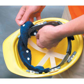 An example snap-on hard hat sweatband. Image borrowed from  Global Industrial .