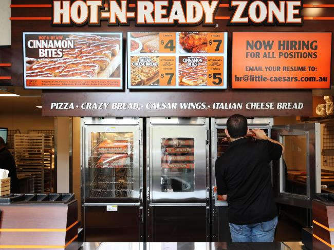 Little Caesars Pizza currently has four stores in Australia, with the goal of reaching at least 400. Source: News Corp Australia