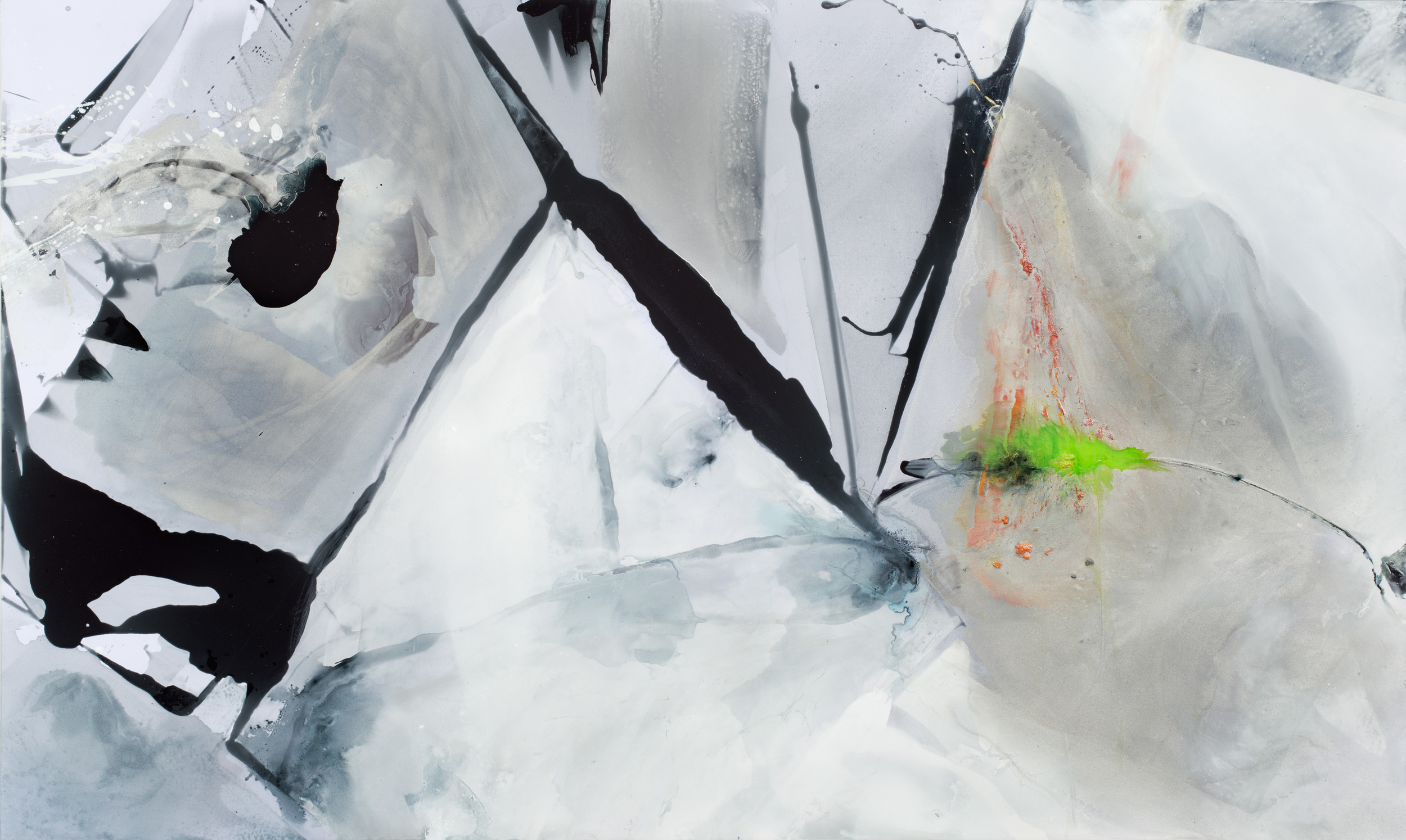 Stick , 2015 Acrylic on polyester 60 x 100 inches