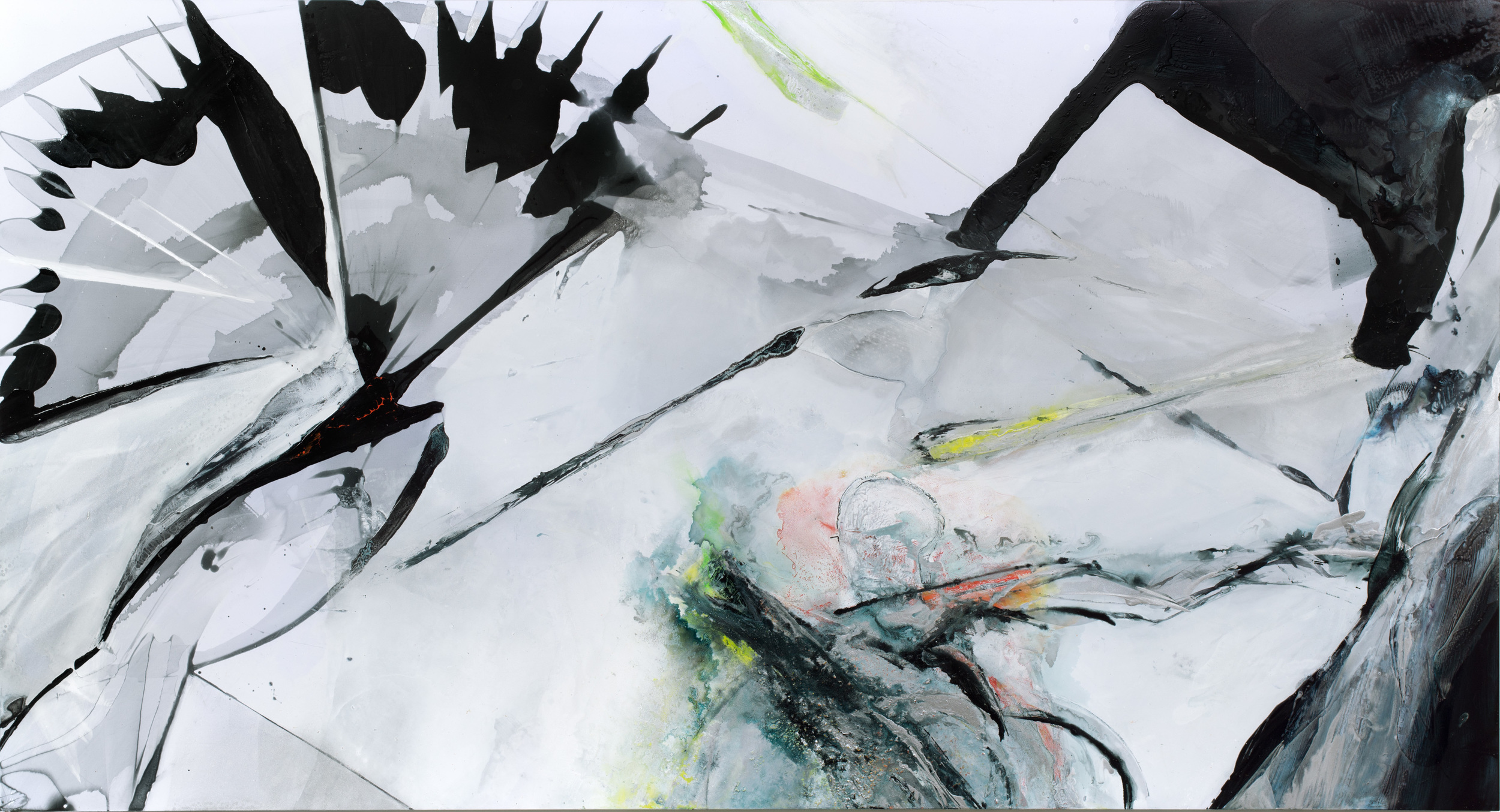 Congruence Is , 2015 Acrylic on polyester 65 x 120 inches