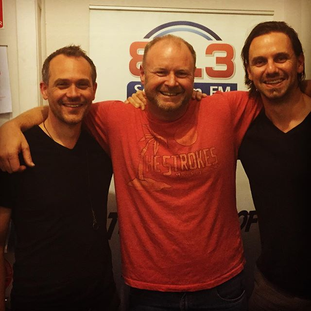 Did a little radio spot with Glenn Stokes last night. He seemed to have ignored the uniform memo but we forgave him because he managed to get Nick and Michael Chugg on the line for a chat! #indie #indiepop #indierock #music #theplaidians #radio @chuggentertainment