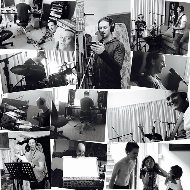 We'll be releasing our debut album very soon! We've have a blast putting it together. And here's a montage to prove it #music #newmusic #plaidians