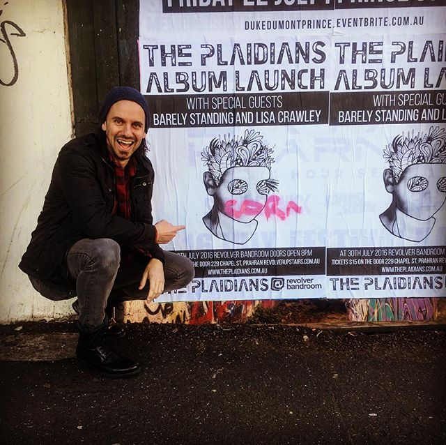 "Even ""corn"" is super excited about our album launch! Link for tickets and details in bio #livemusic #gig #theplaidians #revolverupstairs"