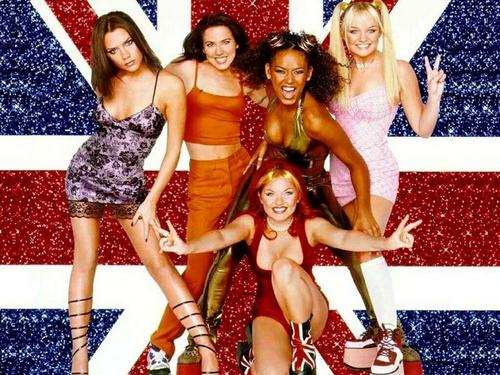 SADNESS SPICE, OLD SPICE, TOKEN BLACK SPICE, BUBBLES SPICE, AND RED SPICE. (I DO NOT KNOW THE NAMES OF THE SPICE GIRLS)