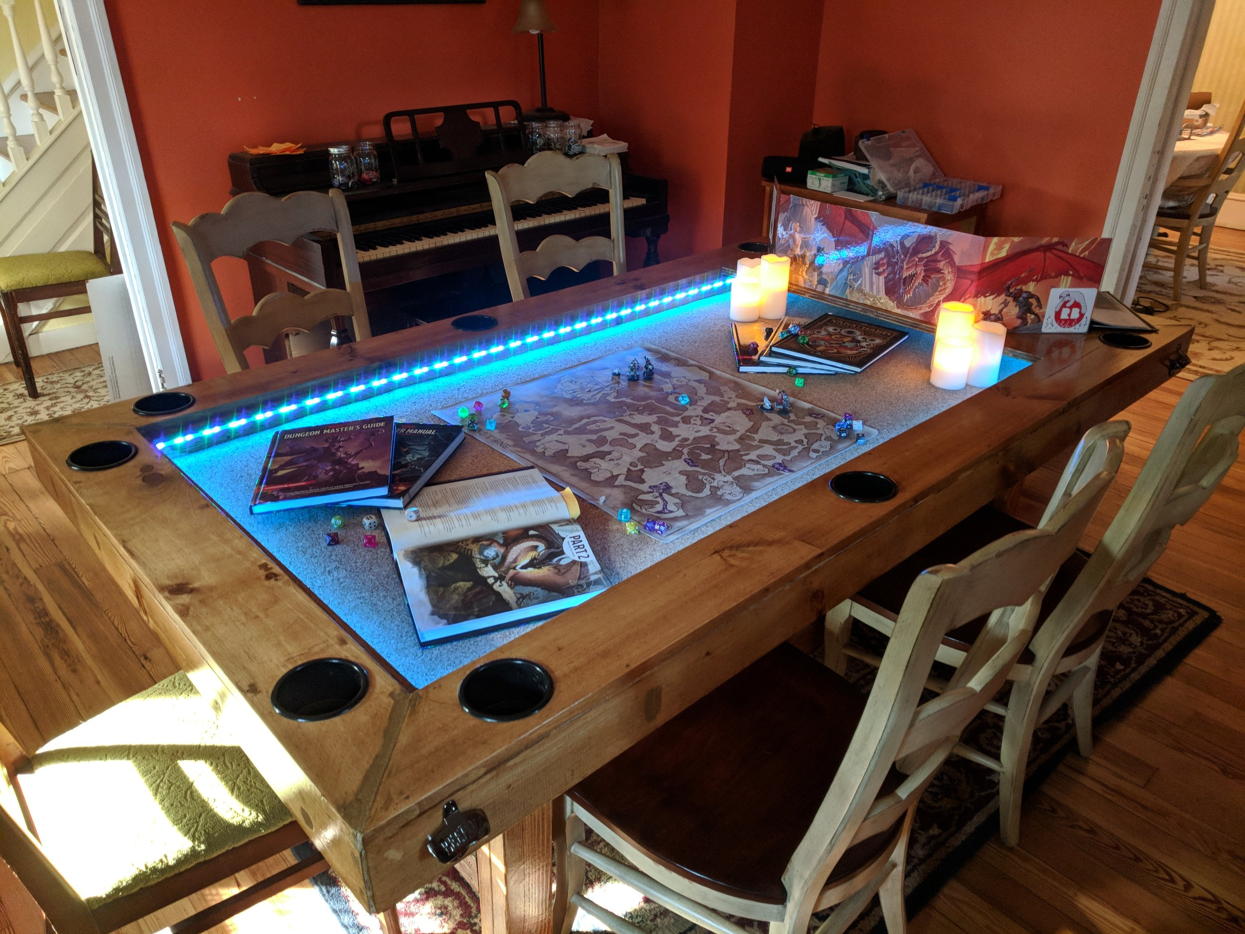 How To Build It Custom Gaming Table Idiot Tantrum