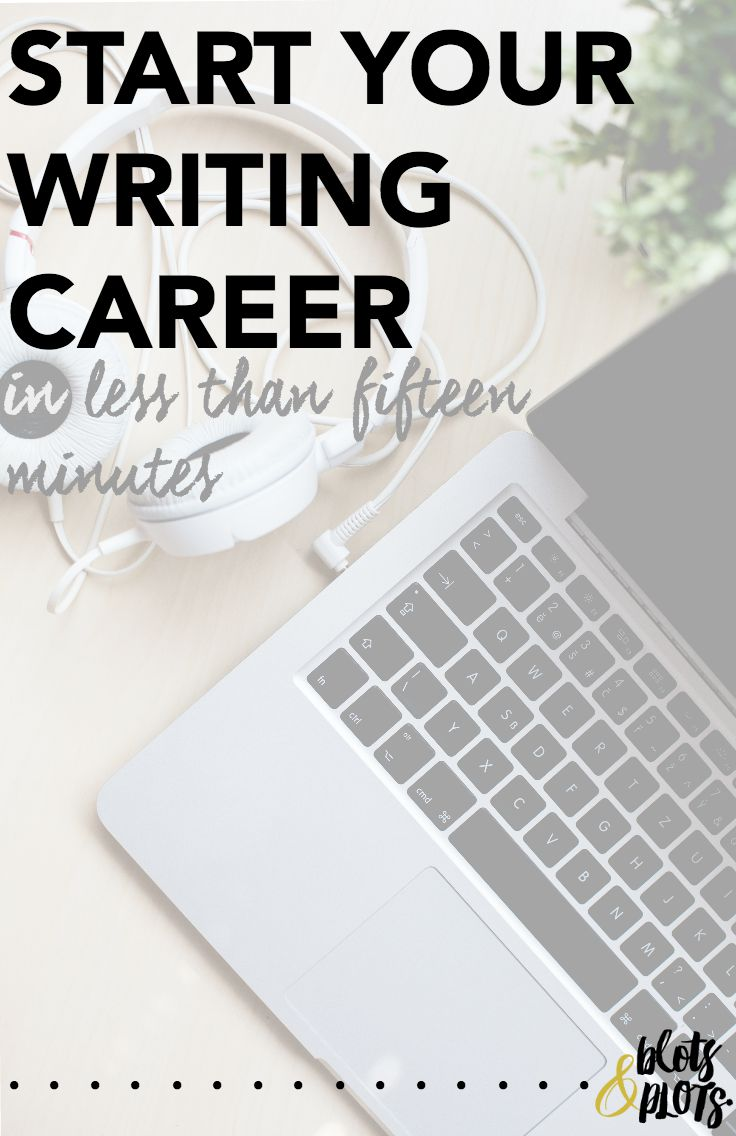start your writing career