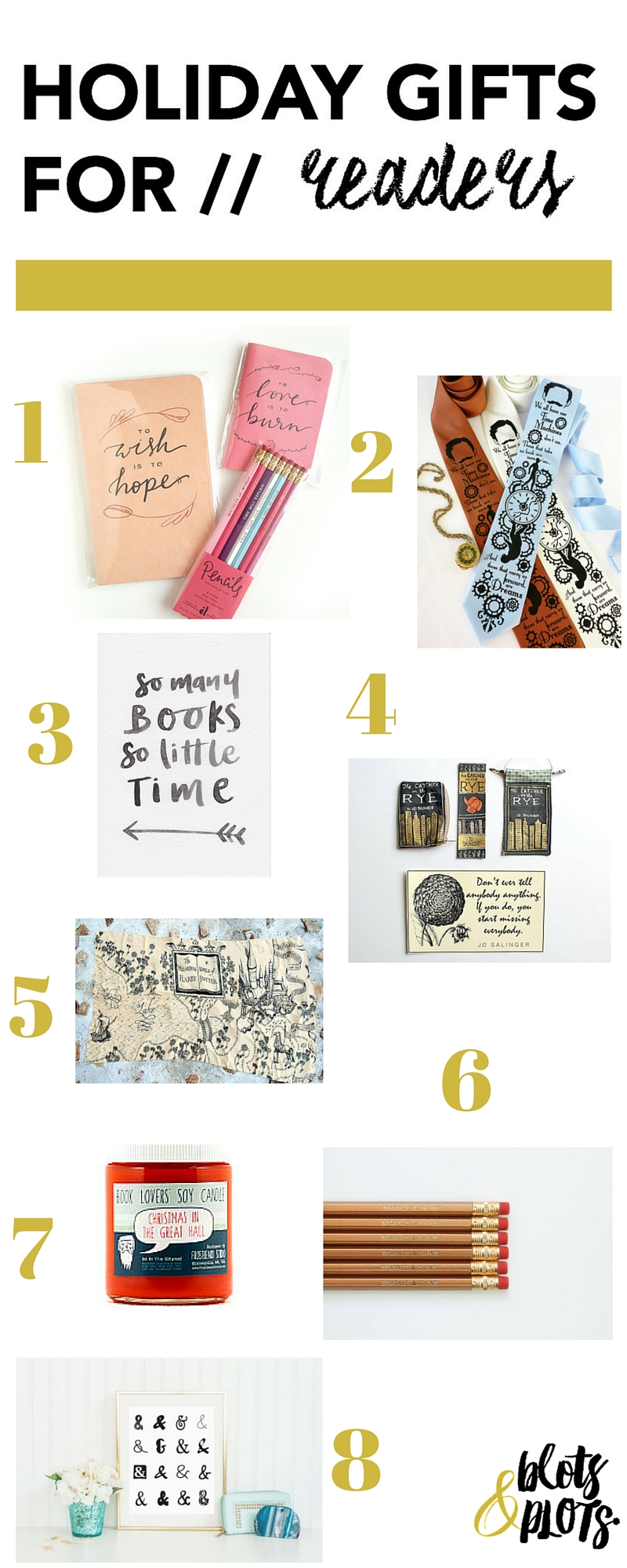 2015 Holiday Gifts for Readers | Blots & Plots