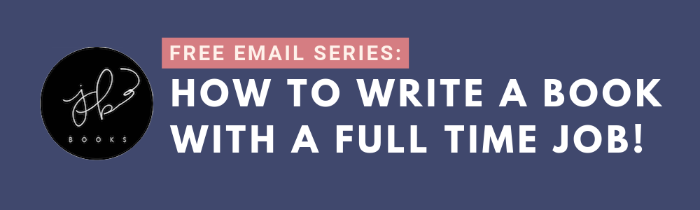 how to write a book with a full time job