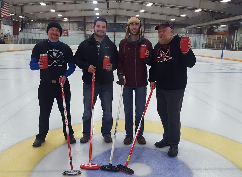 From left to right Adam St. Paul, Nathan Severson, Matthew Perreault, Scott Waltmann