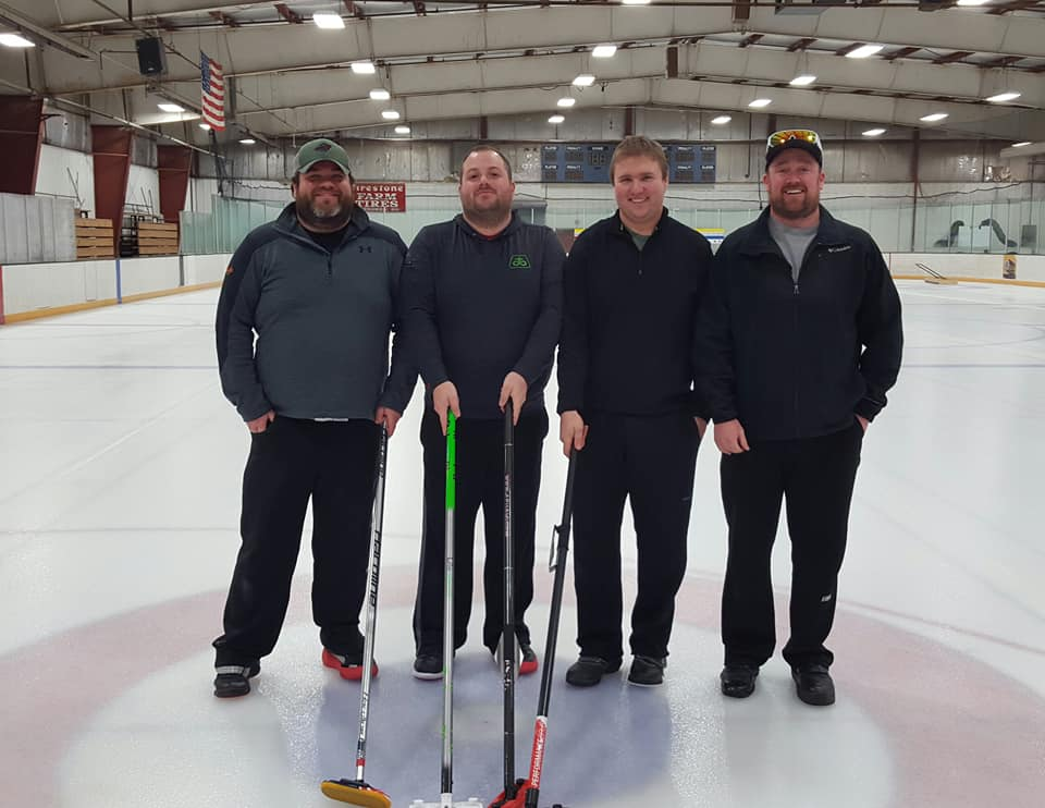 Our 2nd annual New Years bonspiel 2nd place finishers Team Grzaezieleski