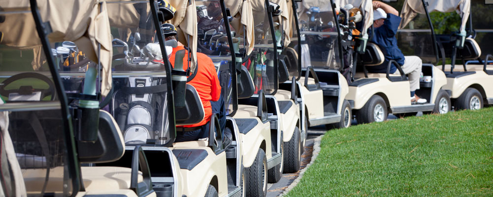 Pictured: Lining up for the shotgun start at last year's tournament.  ©  2014 Sonya Szotack