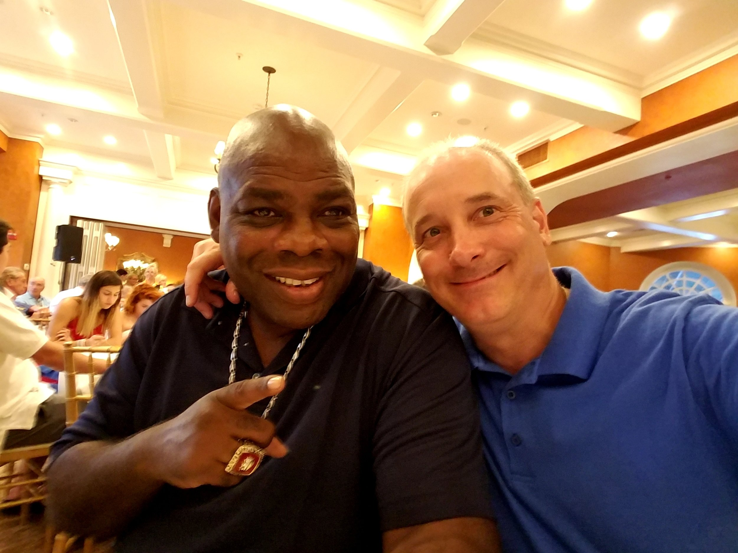 Middleweight Champ Iran Barkley and AAIB board member Charley Wood.
