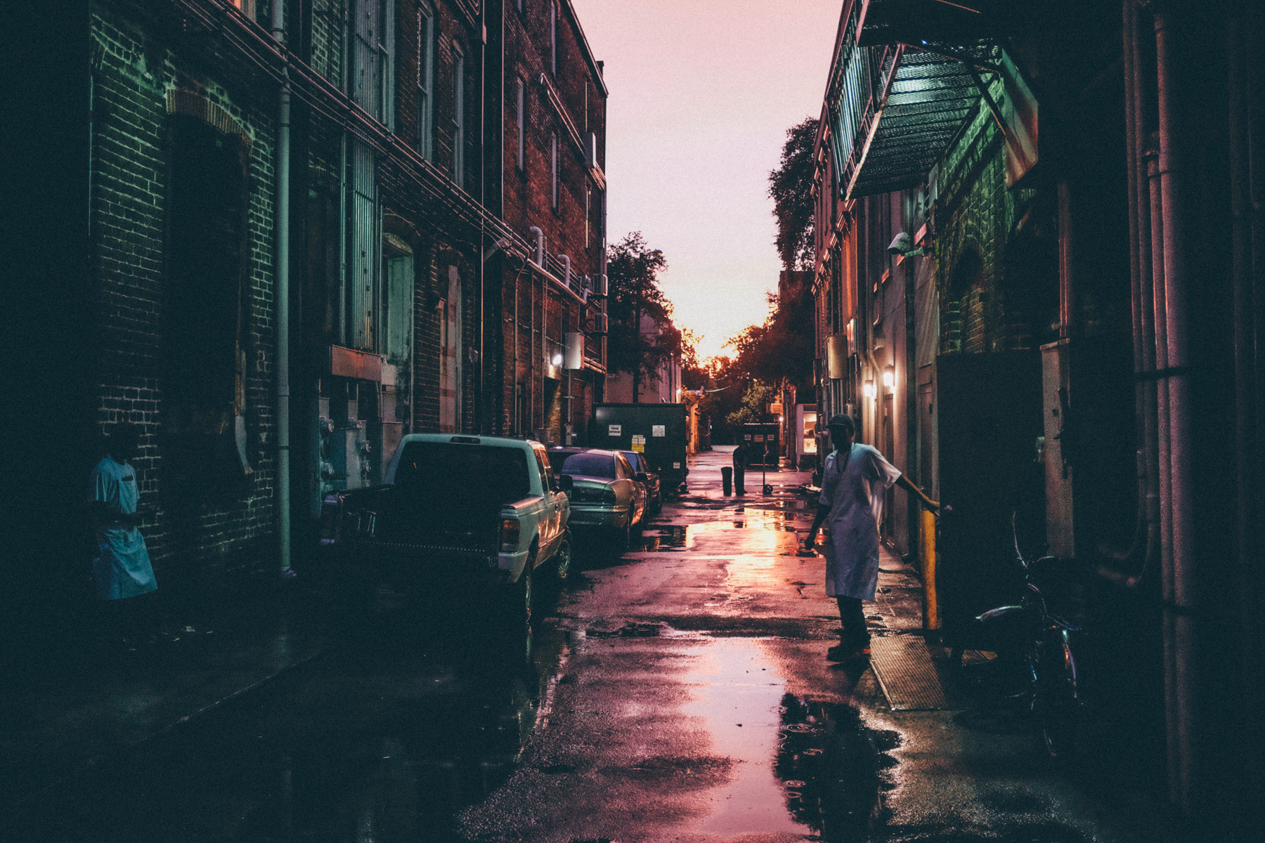 Alley facing west, Savannah, 2015