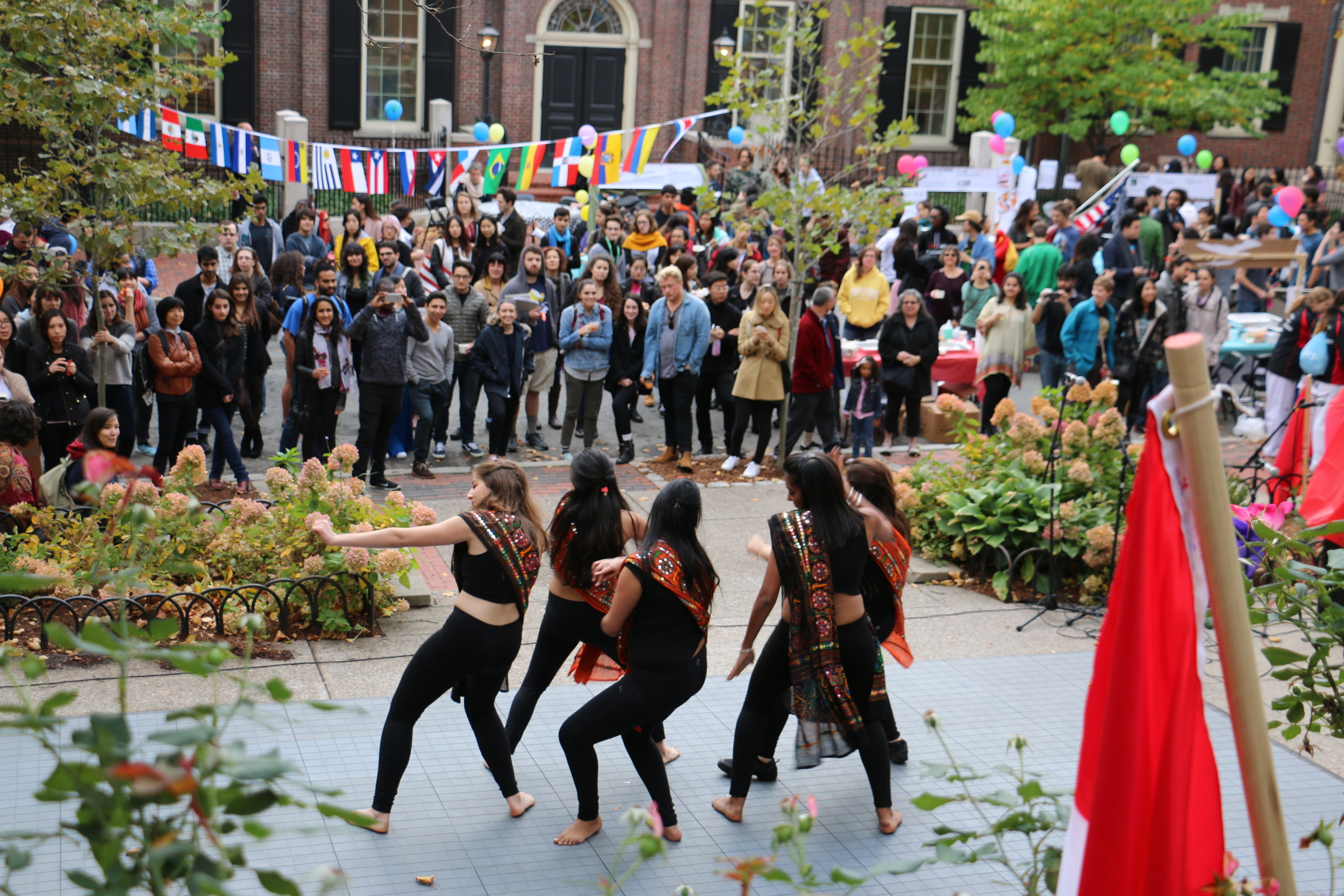 This photo features RISD's first self-choreographed dance team  JALWA . Photocredit: Jennifer Mai