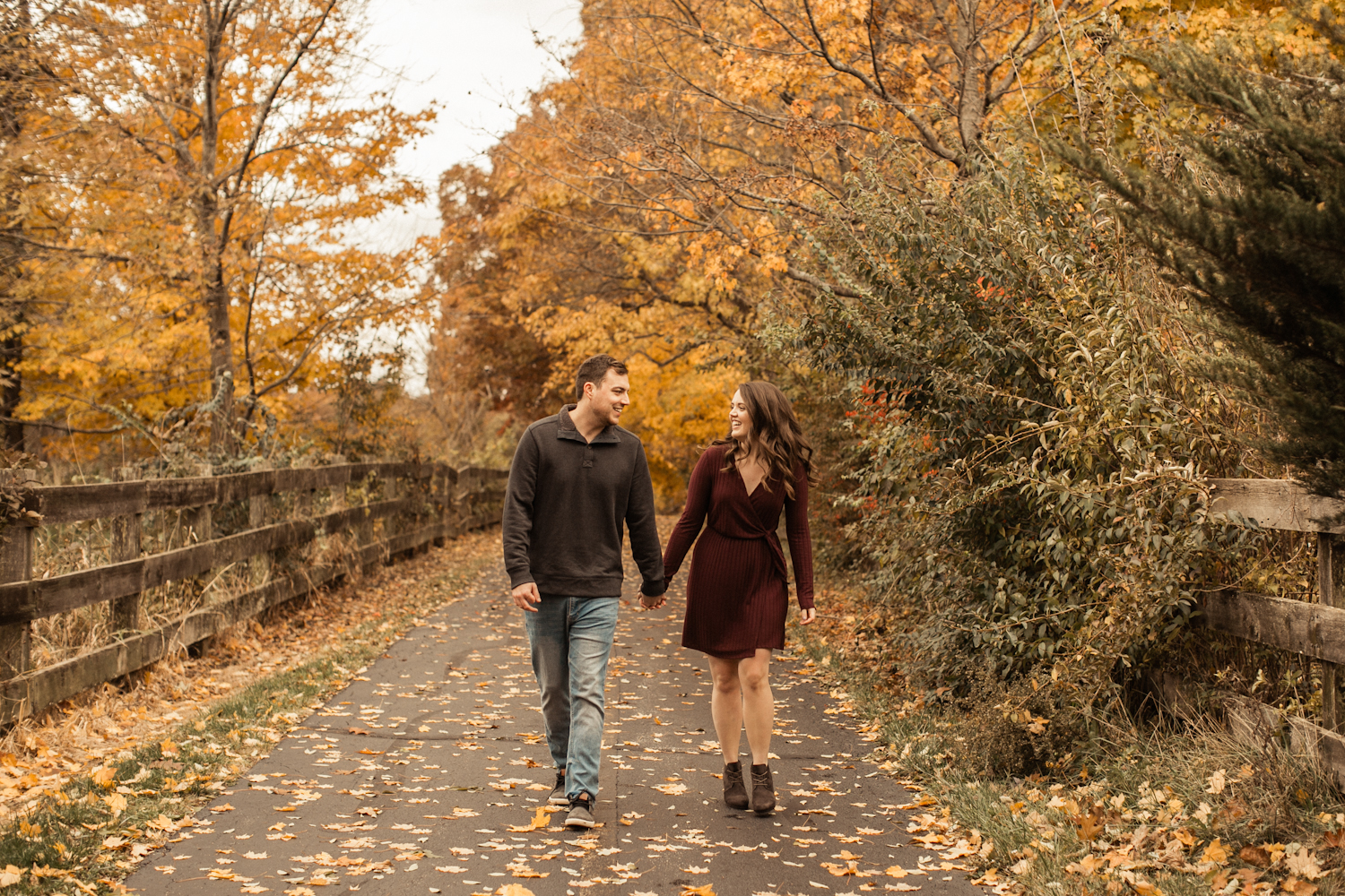 Indiana Engagement Photographer Capturing Couple during the Fall Season