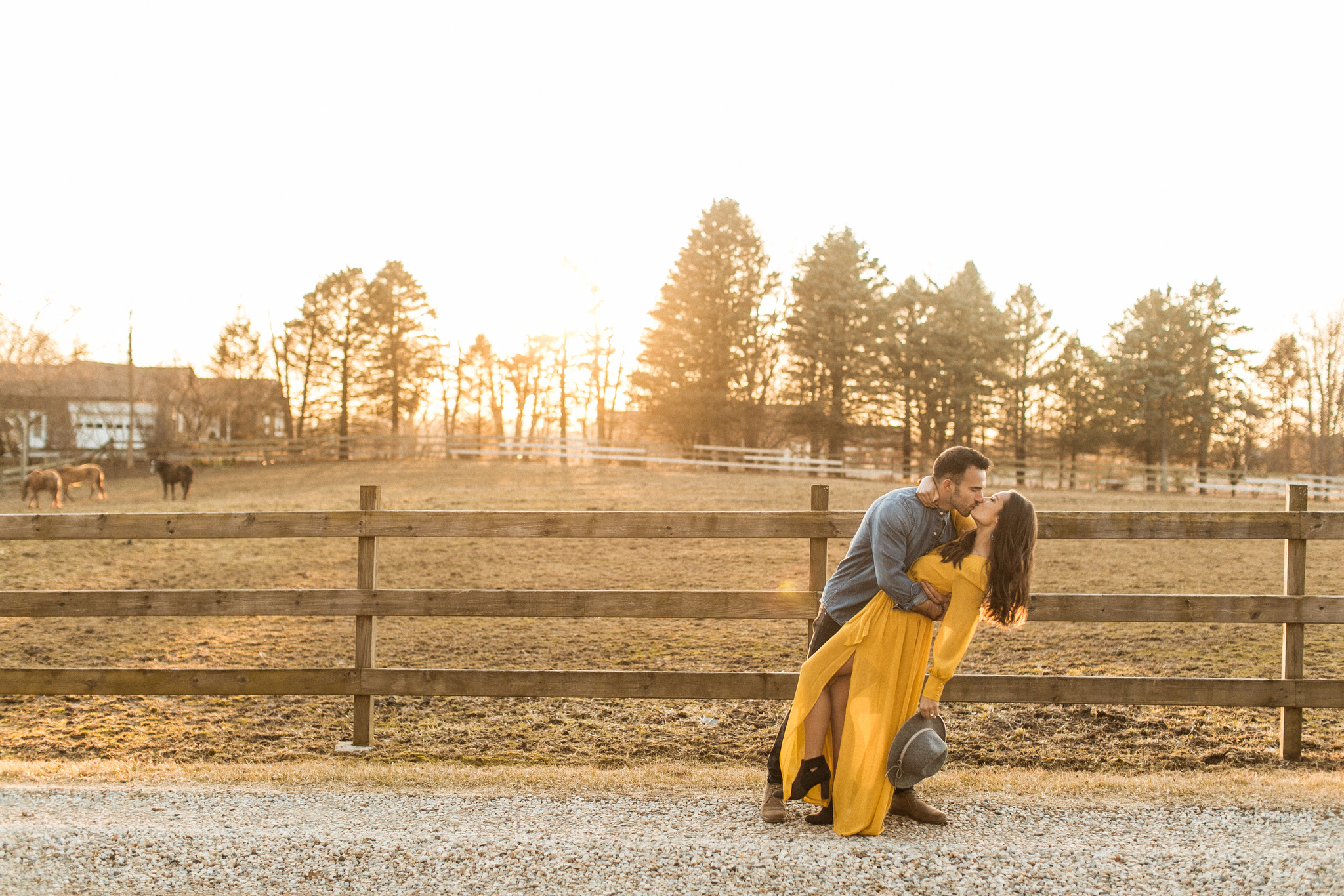 Noblesville Golden Hour Fall Spring Engagement Pictures Session Indianapolis Photographer Indiana