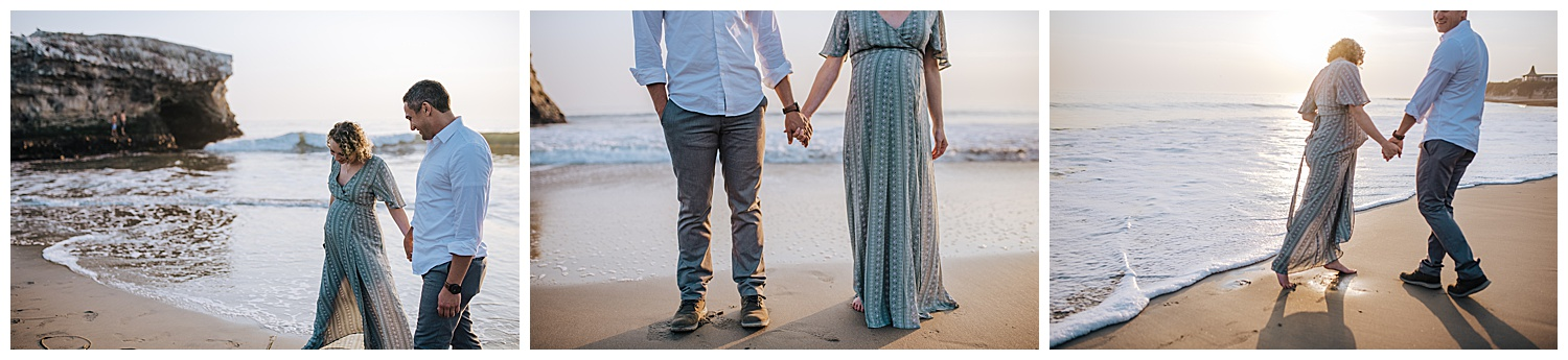 maternity session in ocean