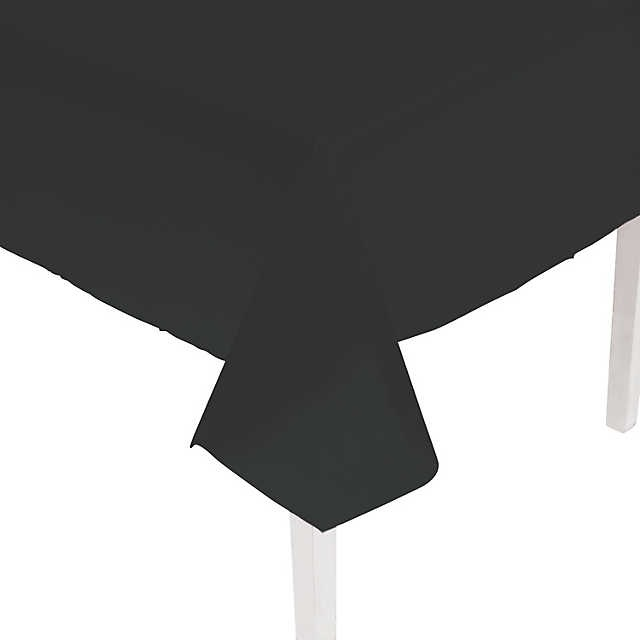 225 & Black Plastic Trestle Table Cloth (cover protector) \u2014 The Party Girl World