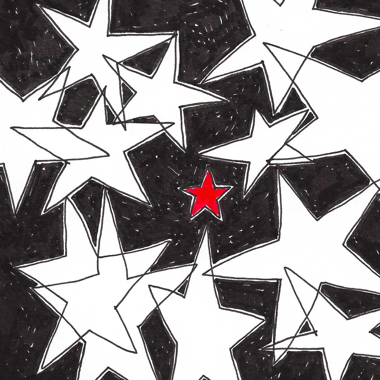 19 dicembre:  ci sono stelle, costellazioni, satelliti, stelle cadenti, aeroplani di passaggio... alzando gli occhi al cielo notturno sono molti gli elementi che si possono osservare. Uno sguardo più attento può però intravvedere sul soffitto della notte anche i sogni, i ricordi, le speranze, i desideri, le domande, le richieste, e i pensieri di chi ha deciso di attaccarli su lì, come piccoli post-it. Ma c'è una stella che è visibile solo agli occhi di chi la prova ed è la stella rossa quella che, quando si realizza, a vederla sono in due.