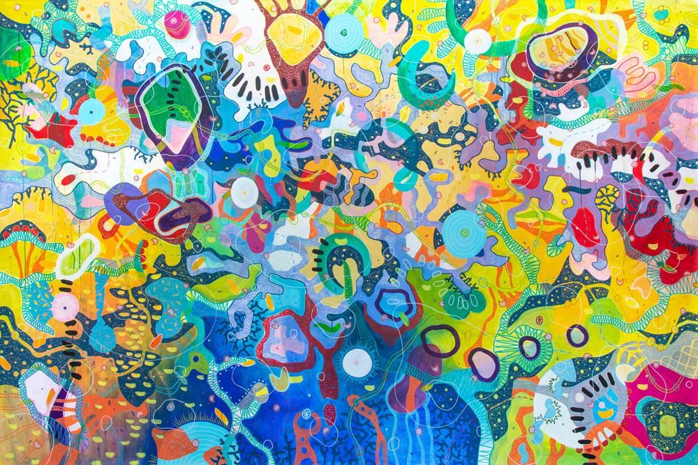 #UNIVERSUS - Acrilico su tela, dim. cm 290x190