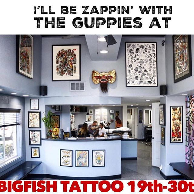 Saaahn diAahhhgo. Hollr.at.a.playr! 😘🦈🦈🦈😘 gotta couple spots left. @bigfishtattoo @bigfishtattoo 👈🏾👌🏽✨