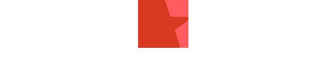 RoC - Logo Monsaratt red star Vertical White Text.png