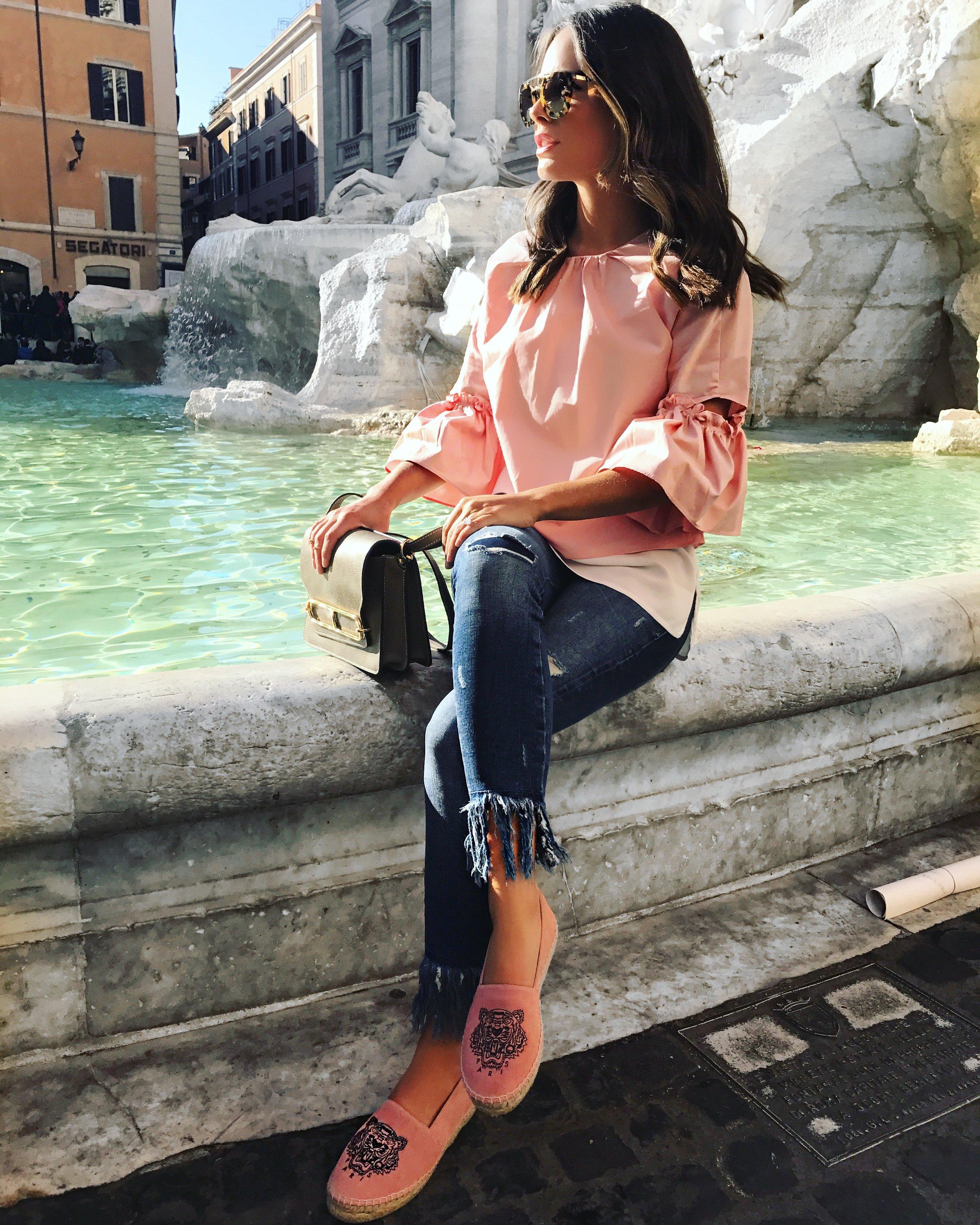 Zara Top  here , Zara Jeans  here ,Kenzo Espadrilles;similar  here