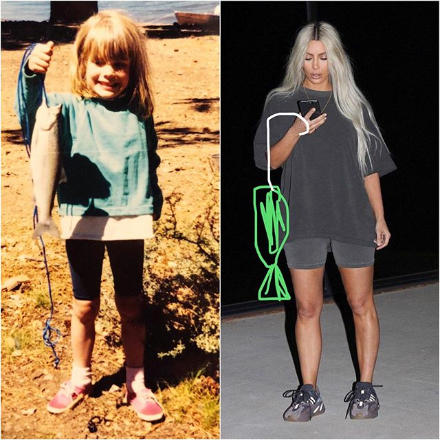 Is this #camp? ⛺️ 🎣 #tbt . . The KarJennerWests went camping this week on #kuwtk but best believe the bike short and dirt trend was a staple of @kathleenelee's childhood long before Yeezus offered a $762 option and had us feeling inspired. The ladies of @saybiblepodcast recap the episode and talk about other things including but not limited to the merits of #backthatazzup by @juviethegreat, Aleve and cheating up. #saybiblepodcast #fashun #kimkardashian #yeezus
