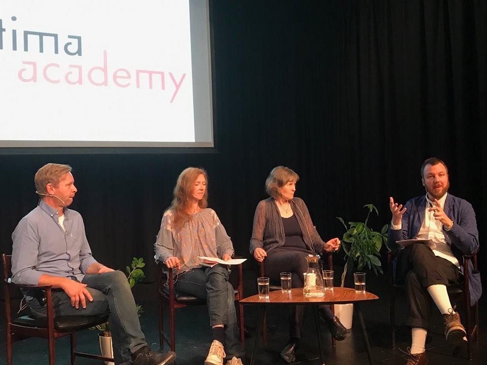 From the left: Rune Rebne,Natasha Barrett,Karin Rehnqvist and Peter Meanwell.
