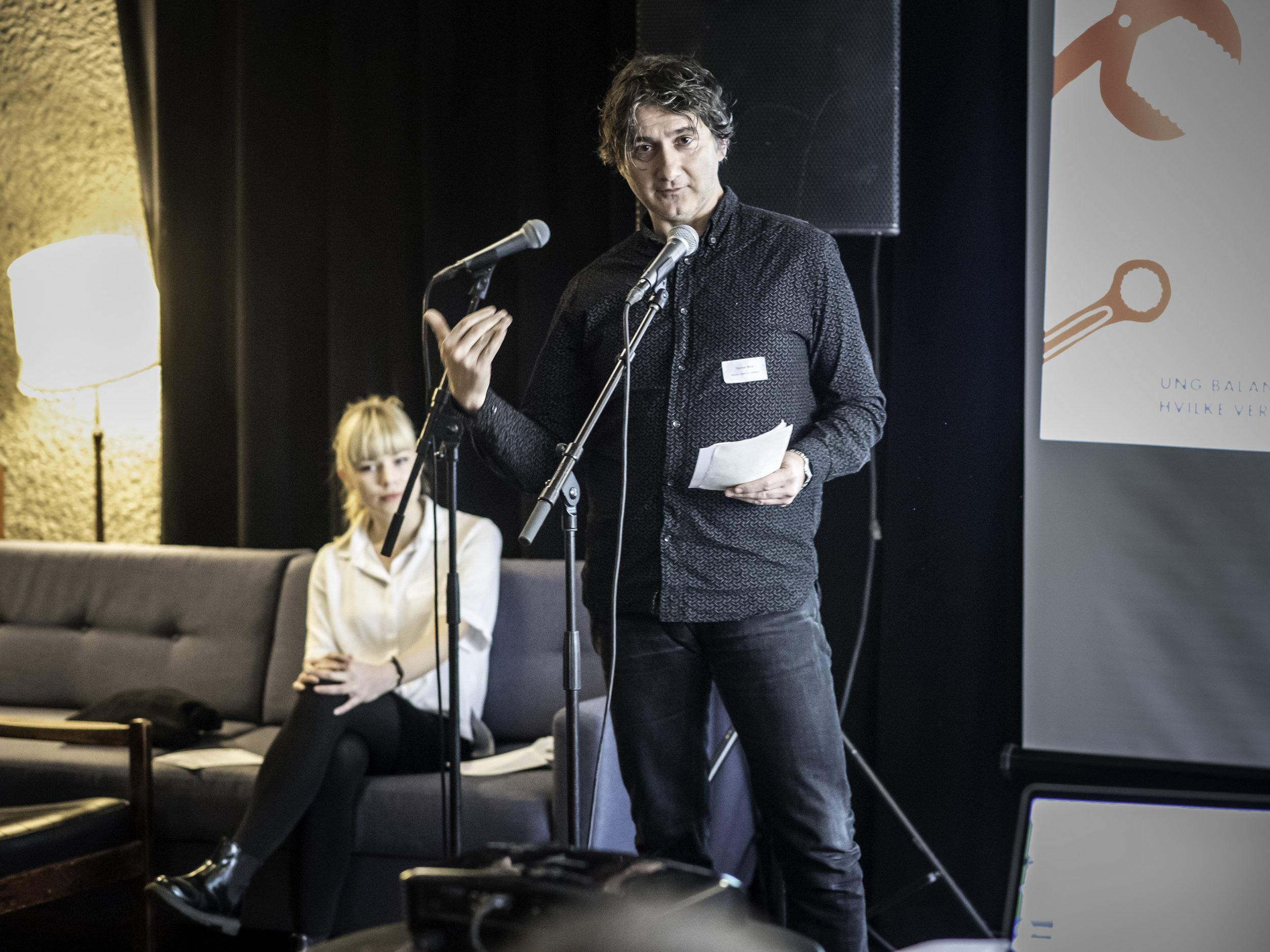 Styremedlem i Balansekunst Thomas Walle på Balansekunstkonferansen. Foto: Petter Sandell