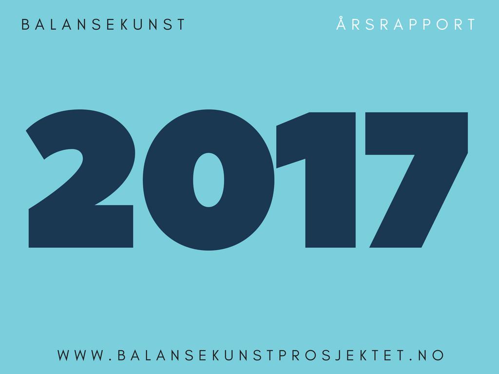 Forside Balansekunsts årsrapport 2017