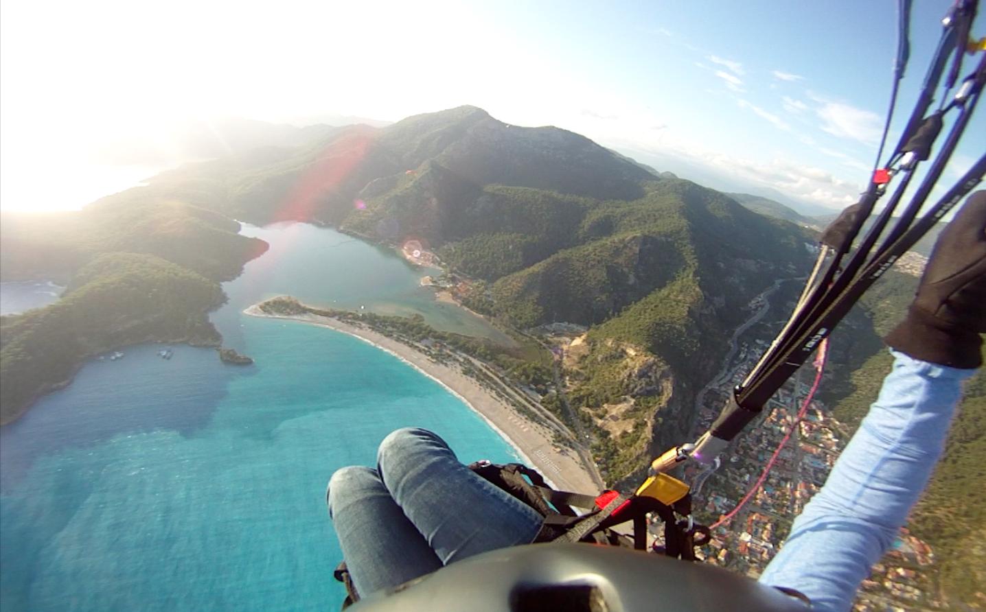 Flying over Ölüdeniz, Turkey.