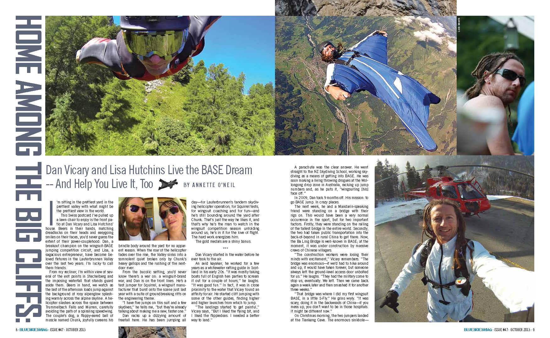 Home Among the Big Cliffs: Dan Vicary and Lisa Hutchins Live the BASE Dream