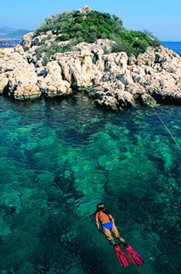Snorkeling in Kas, Turkey