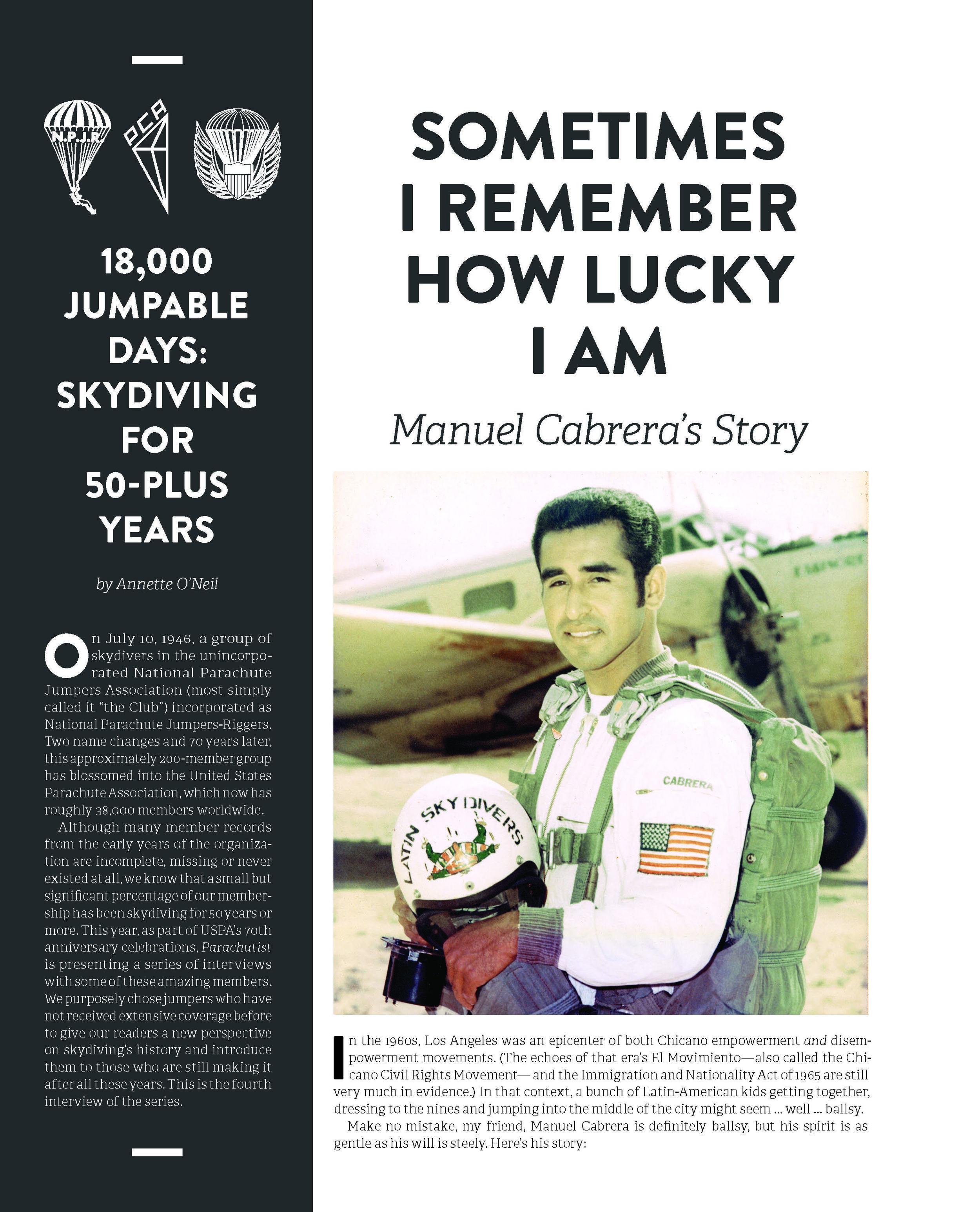50+ Years of Parachuting: Manuel Cabrera