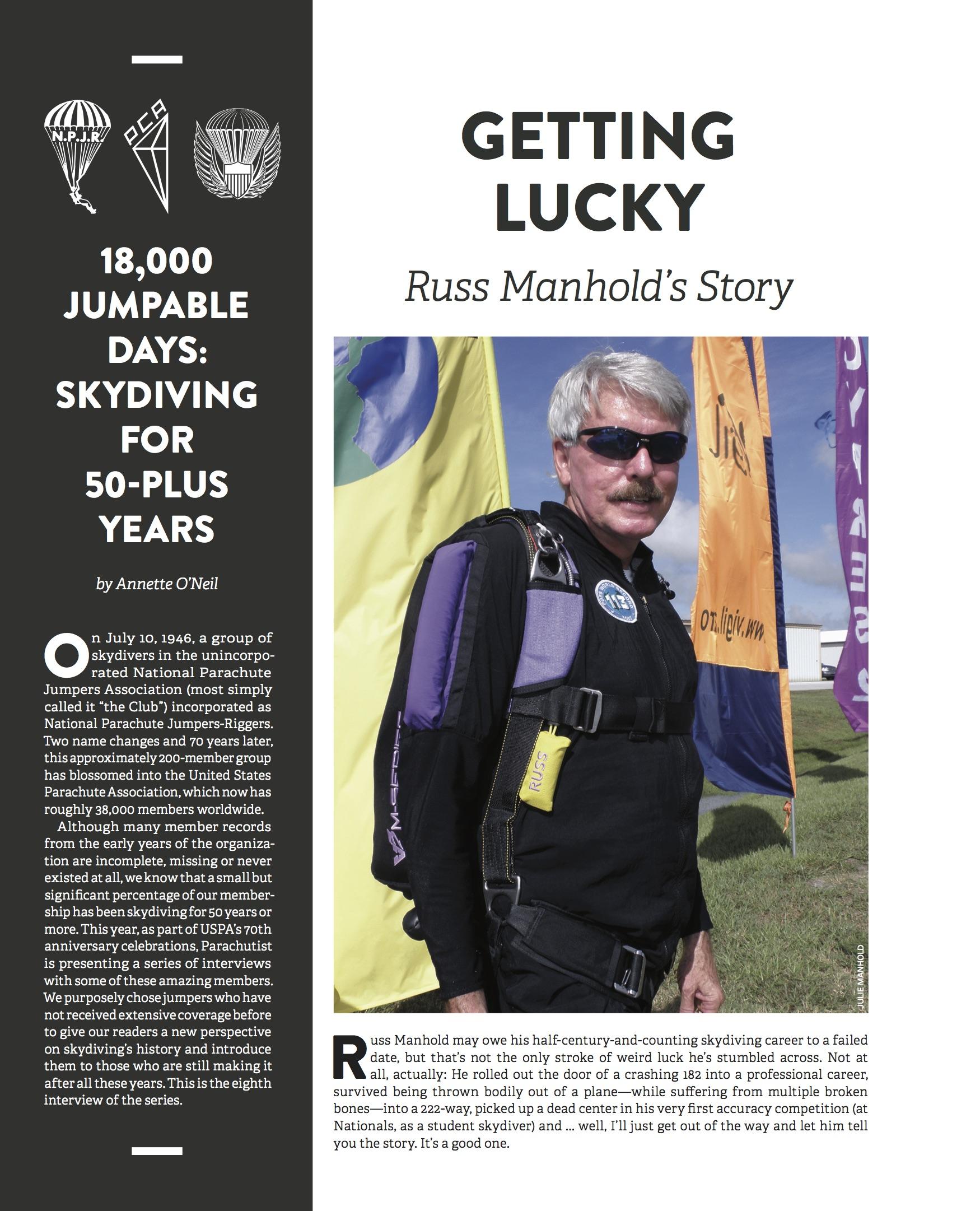Russ Manhold: Getting Lucky