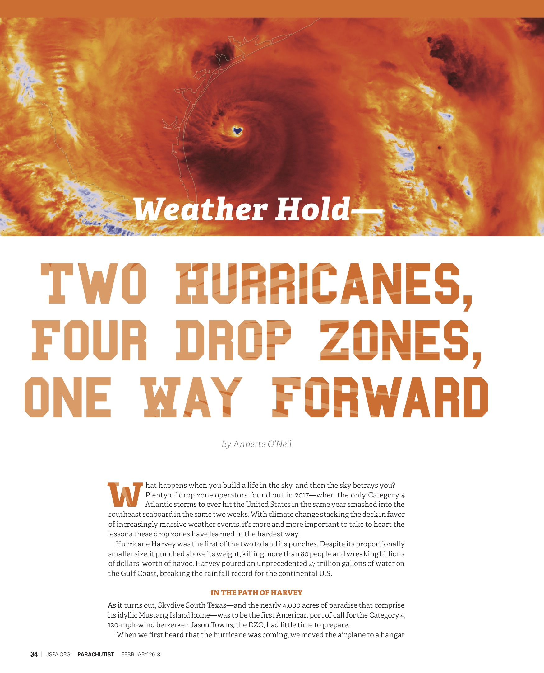 Two Storms, Four Dropzones, One Way Forward