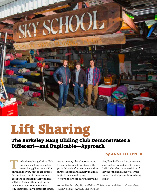 Lift Sharing: The Berkeley Hang Gliding Club