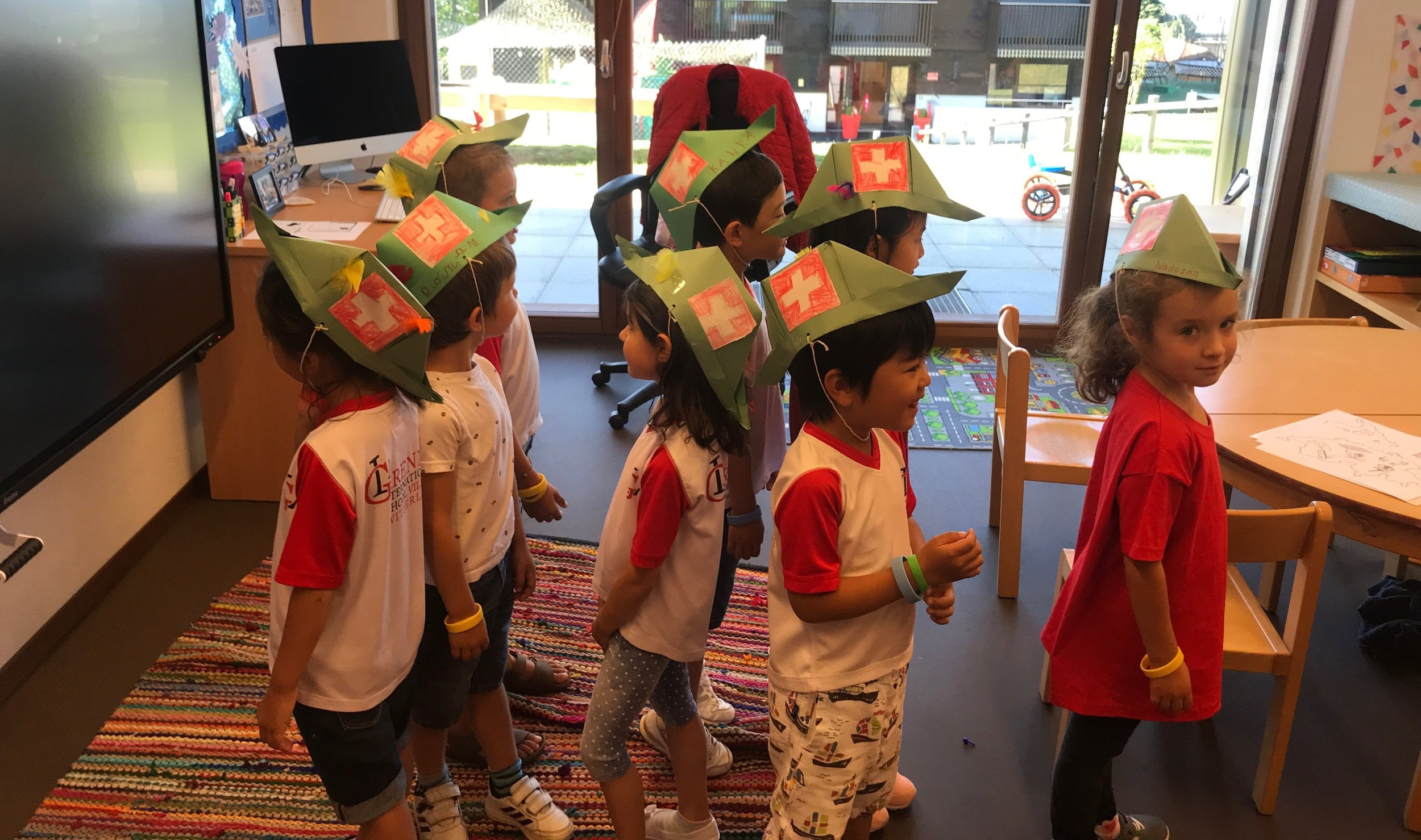 Making and modelling traditional Swiss hats!