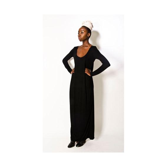 BLACK DRAPED DRESS.jpg