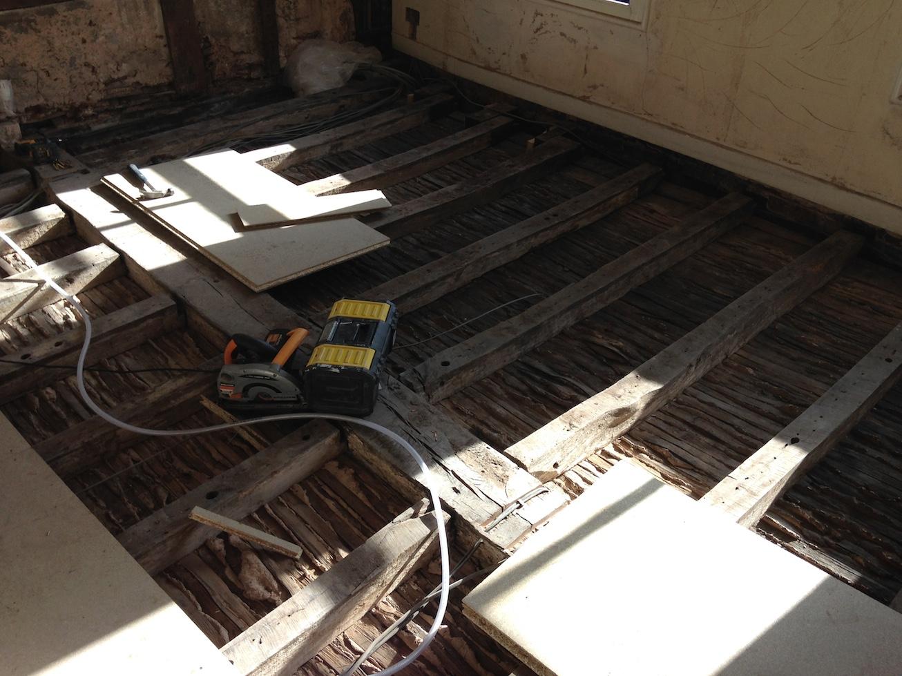 Repair works on the second floor