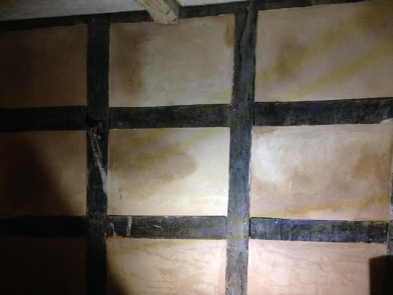 Repairing the old 17th Century plastering
