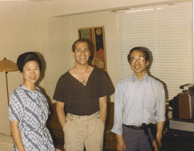 Michael with musicians from the Toho Koto Society  recording a score for the BBC