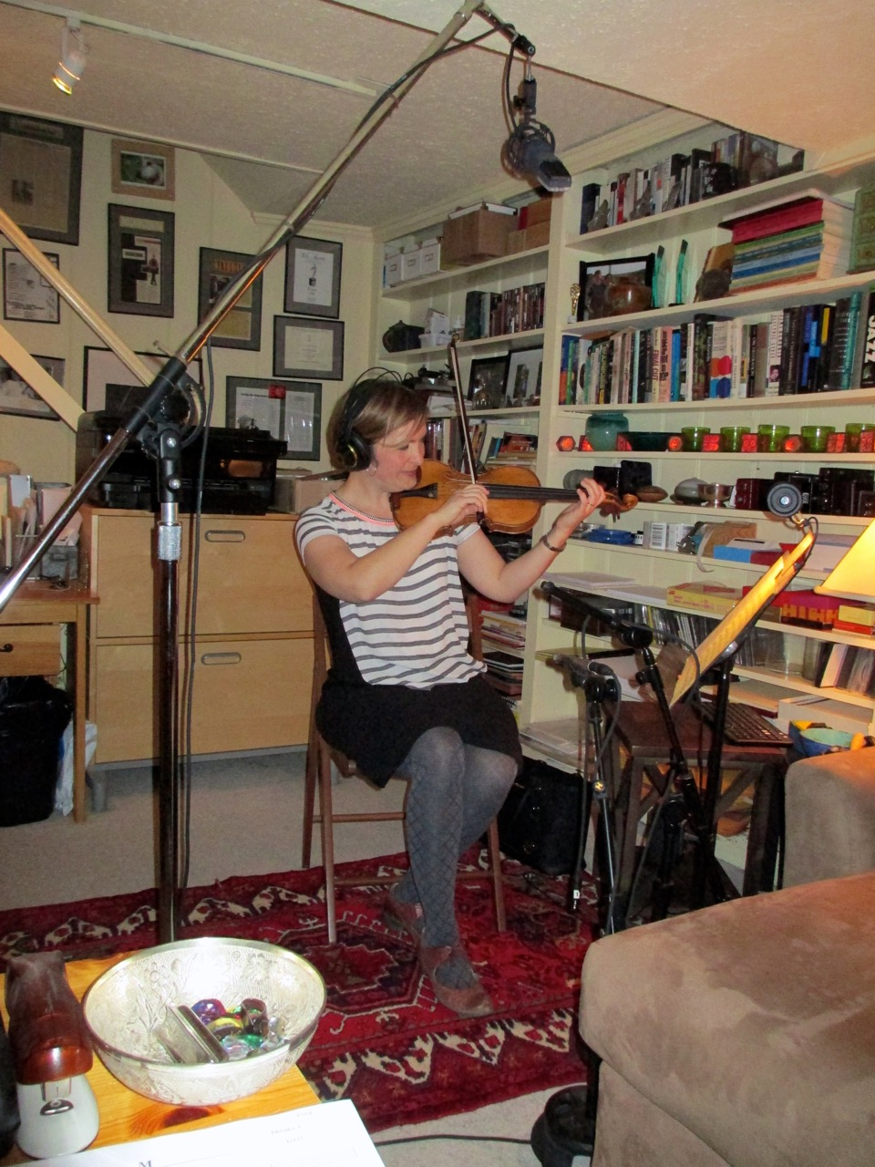Christina Wensel records violin solos