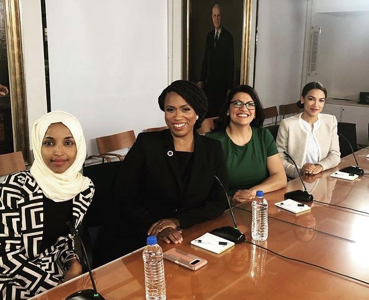 Ilhan Omar, Ayanna Pressley, Rashida Tlaid, Alexandria Ocasio-Cortez (Image: Instagram,  @ocasio2018 )