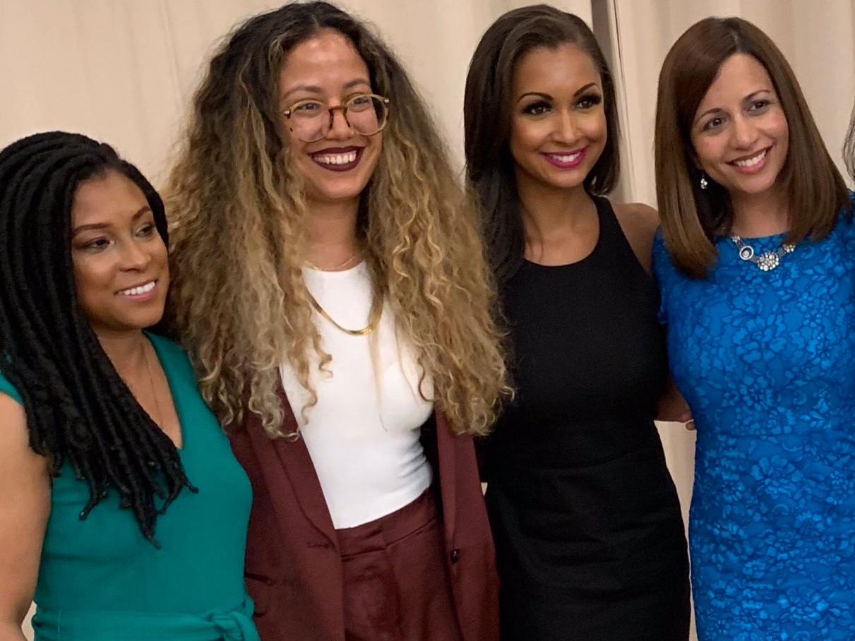 Women of Resilience Awards, 2019; from left, Minda Harts (CEO, The Memo), Yari Blanco (honoree), Eboni K. Williams (honoree), Rachana Bhide (honoree)