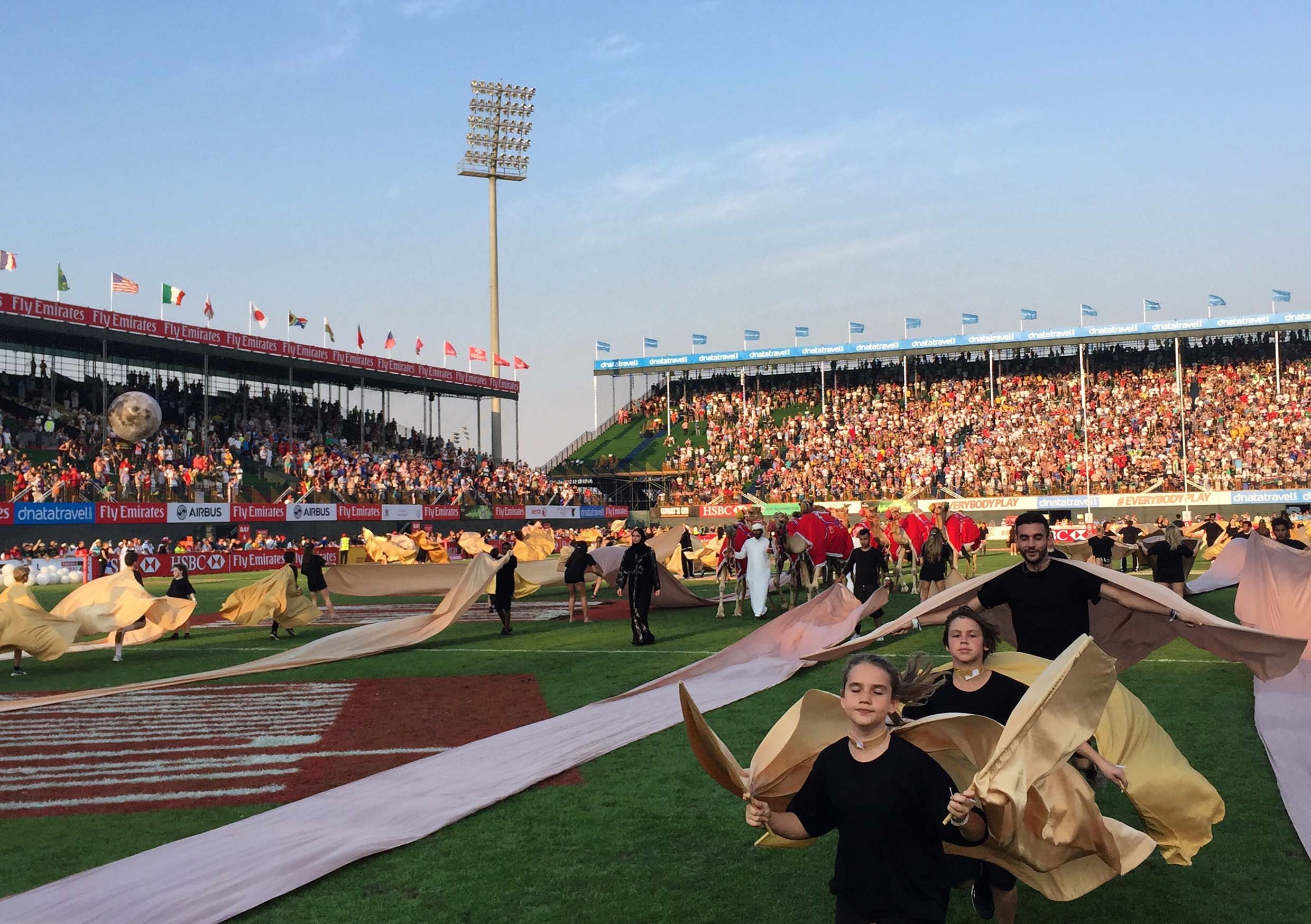 Rugby Sevens Opening Ceremony, Looking Glass Events   Costume & Props