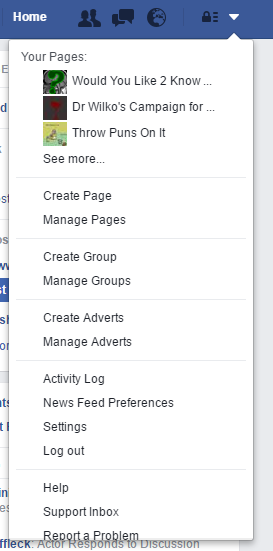 1) Go to your Facebook settings.