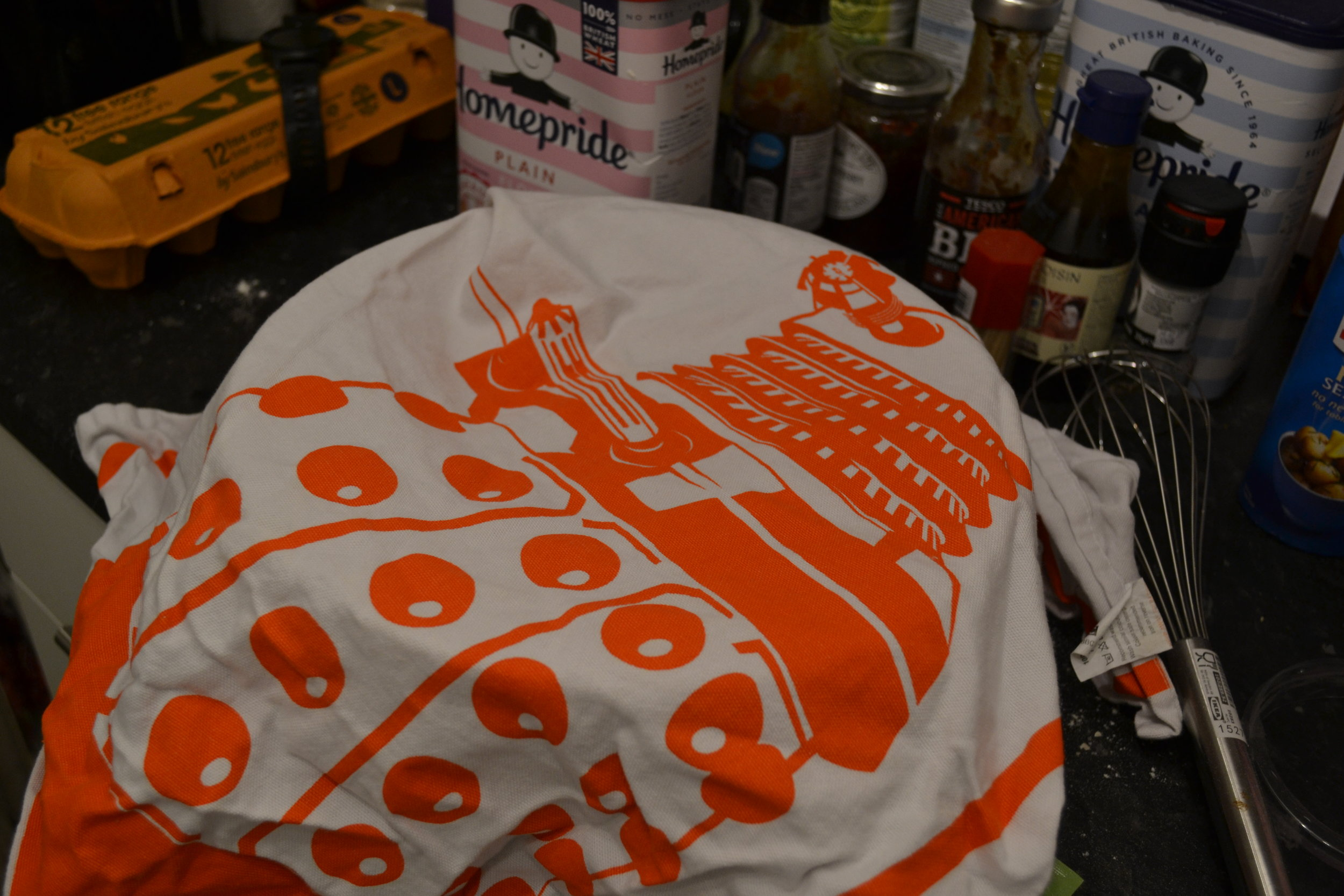 Dalek tea towel optional.